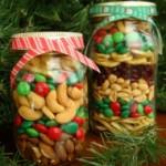 make Christmas treats in a jar
