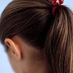 how to make jingle bell ponytail holder