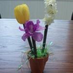 pot of flower pens