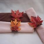 how to make leaf napkin rings