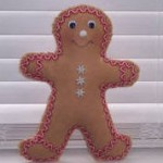 Learn to sew Gingerbread man decoration