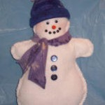 Learn to sew a snowman pillow as Christmas gift
