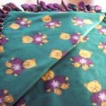 make a fleece blanket no sewing needed