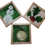 how to make paper towel coasters