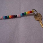 how to make a simple beaded key ring