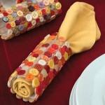 Thanksgiving napkin ring made from buttons