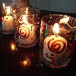 fall candle holder