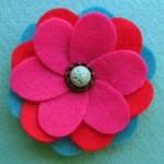 make flowers from felt