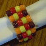 how to make pony bead napkin rings