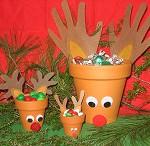 how to make reindeer treat pots