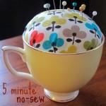 teacup pin cushion